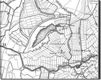 Kaart van Nieuwkoop en omgeving ca.1823