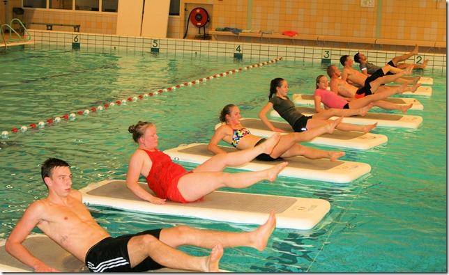 PERSBERICHT Floatfit instructeurs oefenen